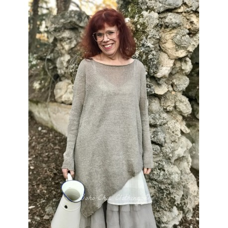 pullover Asymmetry Linen Natural