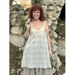 robe LEA coton carreaux vert