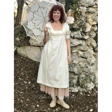 dress MILENE in ecru poplin Les Ours - 1