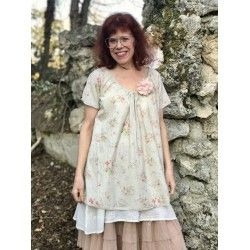 tunic FRANCINE in floral cotton