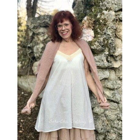 dress LEA in ecru cotton