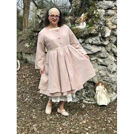 manteau ARMELLE lin vieux rose