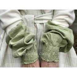 manchettes BLANDINE coton vert