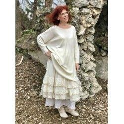 dress pullover ANNABELLE in ecru woolen