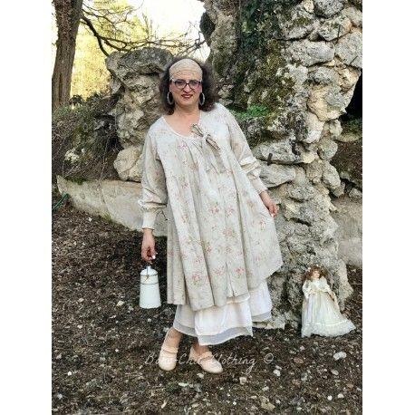 robe veste CASSANDRE popeline fleurs