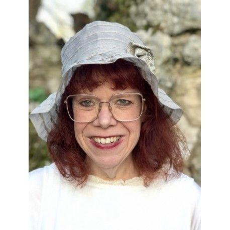 hat BARBARA in grey linen