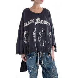 pullover Oversized Hi Lo Francis Black Sabbath in Ozzy