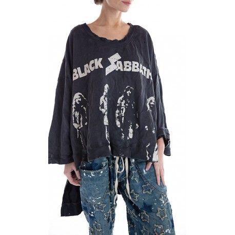 pullover Oversized Hi Lo Francis Black Sabbath in Ozzy