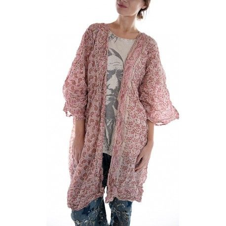 veste Kimono in Saige