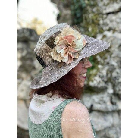 chapeau LAURA en lin taupe