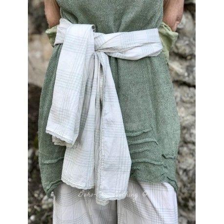 foulard PAULINE coton carreaux vert Les Ours - 1