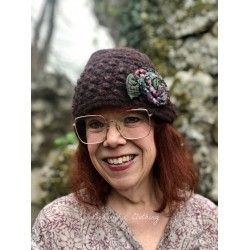 knit hat MARGARET in burgundy