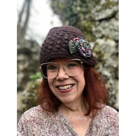 knit hat MARGARET in burgundy