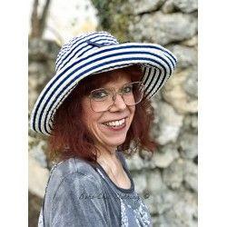 chapeau GEMMA rayé bleu