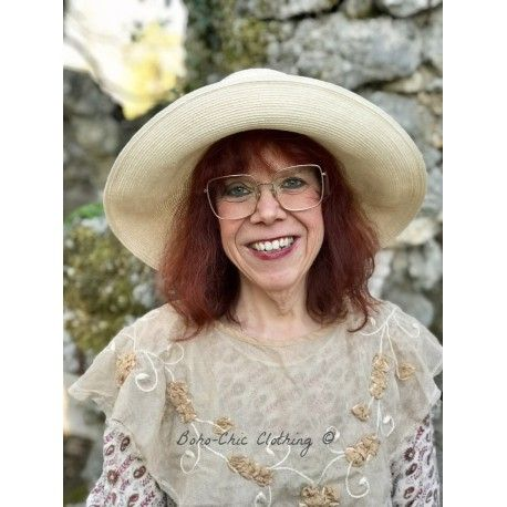 hat ISABELLA in cream hemp