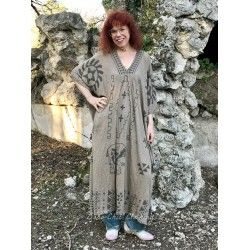 dress Native Art Veda Kaftan in Clay