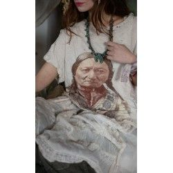 T-shirt Color Tinted 1875 Sitting Bull