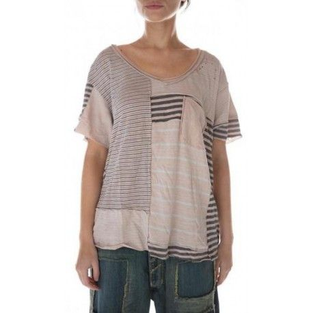 T-shirt Patched linear short sleeve Sofiane in Molly