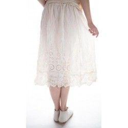 skirt You Are My Sunflower in Antique White