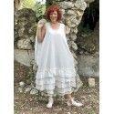 dress JADE in ecru cotton