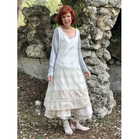 robe-tablier LOUANE coton carreaux vert