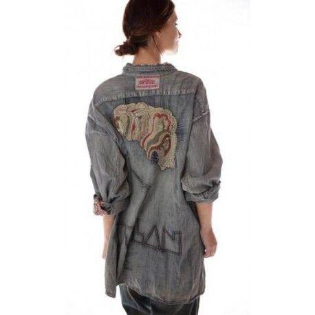 shirt Bard Adison Workshirt in Washed Indigo