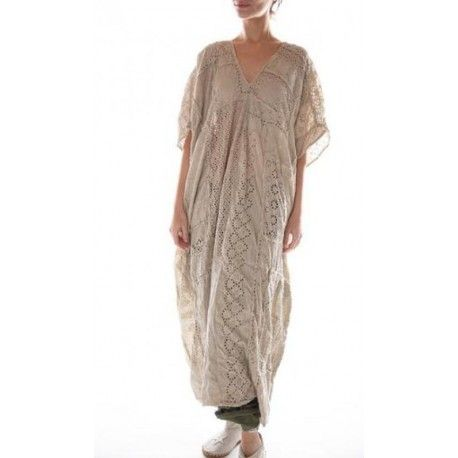 dress Lilian Kaftan in Antique White