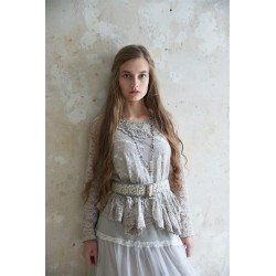 blouse Pure glory in Light grey Lace