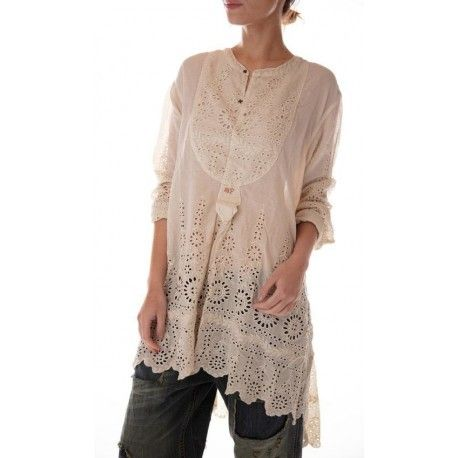 shirt Ines in Antique White