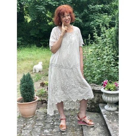 dress Virgie Eyelet in Moonlight