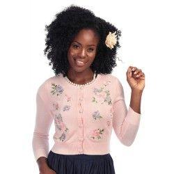 gilet Abigail Fleurs roses