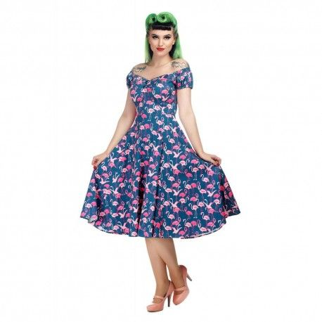 dress Dolores Flamingo