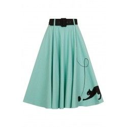 skirt Kitty Cat Light Green