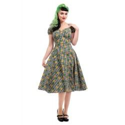 dress Dolores Pineapple Gingham Collectif - 1