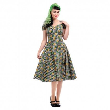 dress Dolores Pineapple Gingham