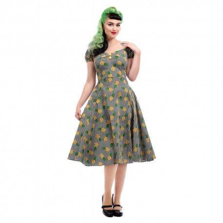 robe Dolores Vichy et Ananas