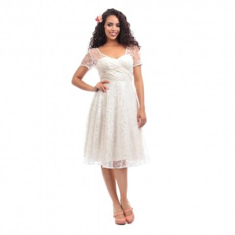 dress Nina Brocade Rose