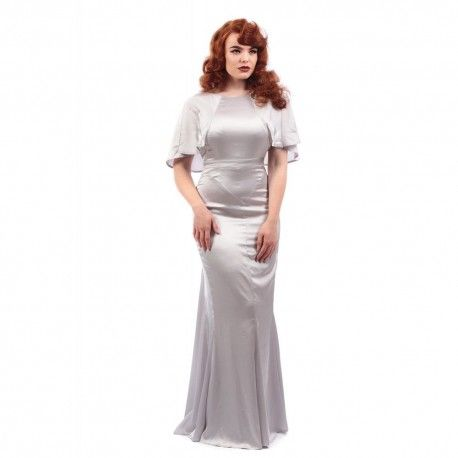 robe longue Martine Argent