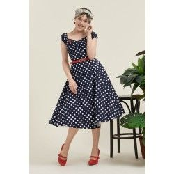 dress Dolores Navy dot Collectif - 1