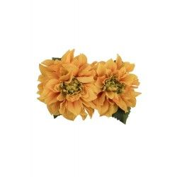 hair flower Samantha Yellow double peony