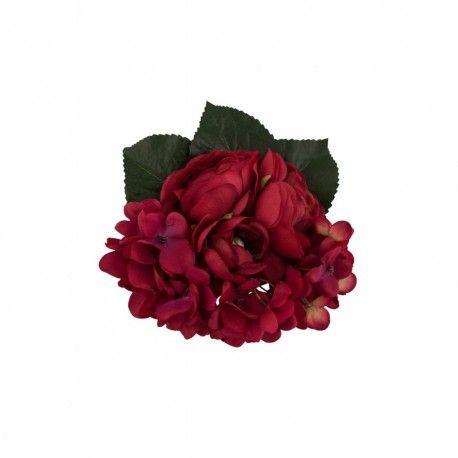 hair flower Justine Red