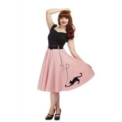 jupe Kitty Cat Rose Collectif - 1