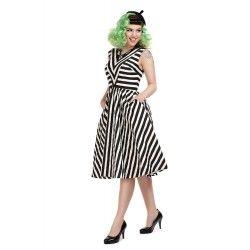 robe Joanie Rayée noir et blanc