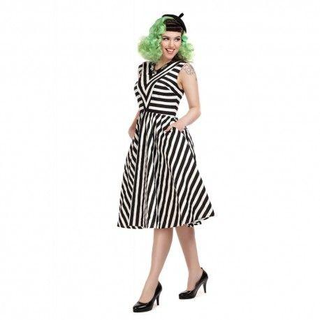 dress Joanie Black and White Striped