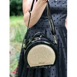 bag Glitter Vanity Black and Gold