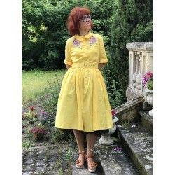 robe Aria Fleurs brodées