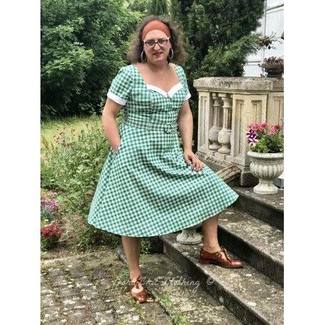 robe Roberta Vichy vert