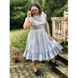 jupe Katherine Vichy bleu ciel