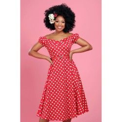 dress Dolores Red dot