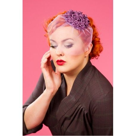 fascinator Frederica Purple